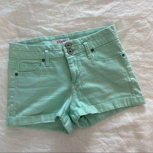 Candie's Mint Green Denim Shorts size 5